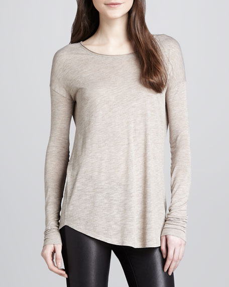 Long-Sleeve Slub Tee