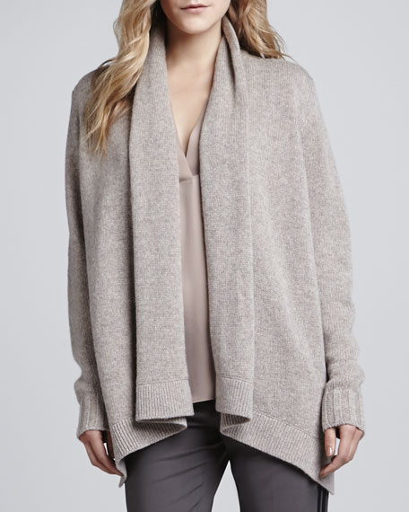 Open Draped Knit Jacket