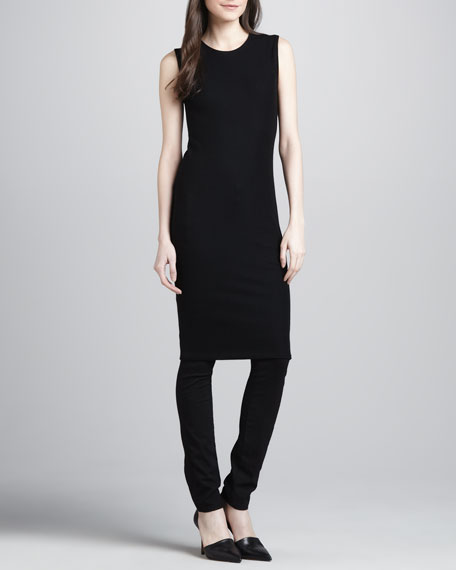 Ribbed-Knit Pencil Dress