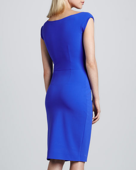 Draped Front Cocktail Dress