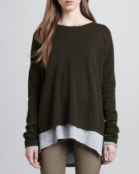 Split-Hem Cashmere Sweater