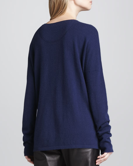 Cashmere Slit-Side Sweater