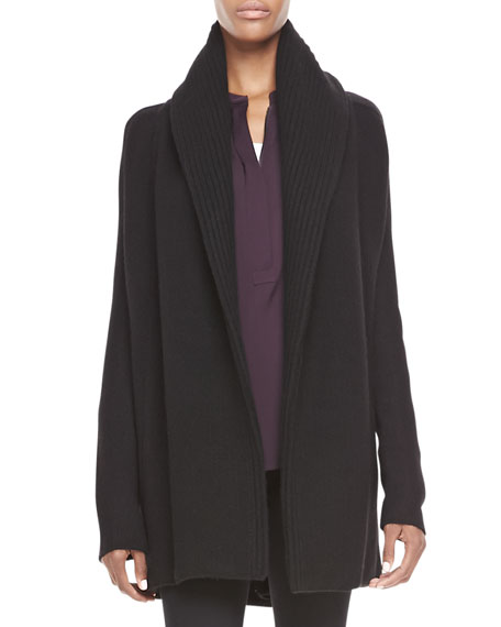 Vince Rib-Trim Open Cardigan