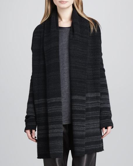 Knit Striped Open Jacket