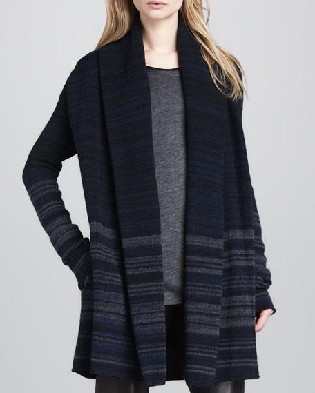 Variegated-Stripe Felt Jacket