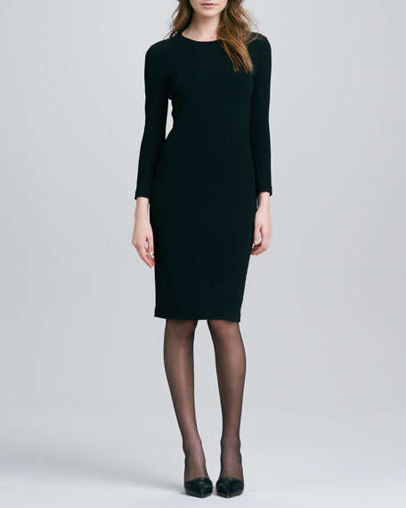 Fitted Boucle Pencil Dress