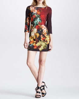 Just Cavalli Victorian Wallpaper Floral-Print Dress