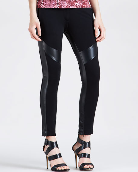 Pieced Skinny Pants