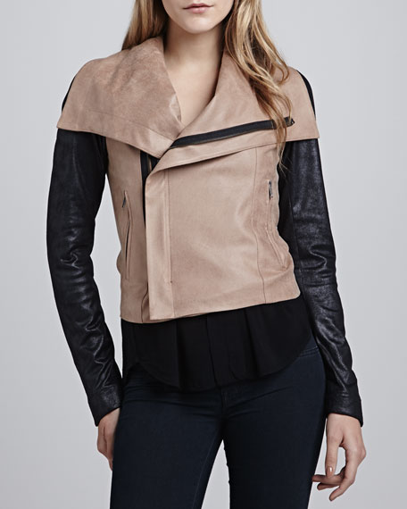 Queensway Two-Tone Moto Jacket