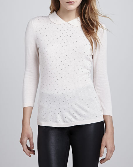 Bronty Dotted Collar Sweater