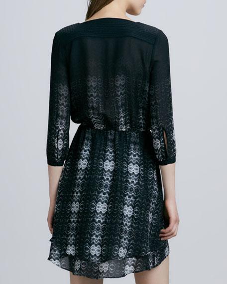 Quinn Printed 3/4-Sleeve Dress