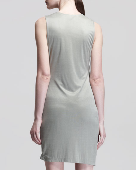 Shale Side-Tuck Jersey Dress