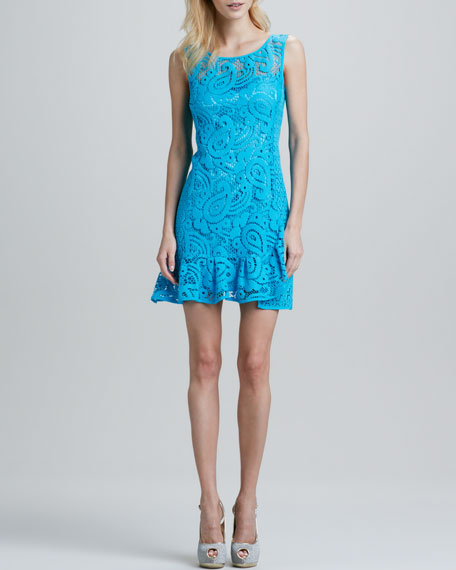 Mambo Paisley-Lace Dress