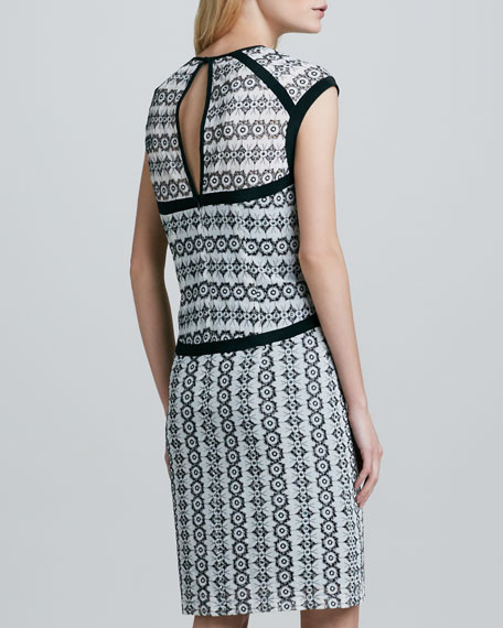 Castille Outlined Lace Dress