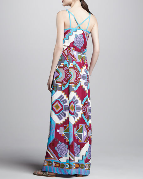 Machu Picchu Printed Maxi Dress