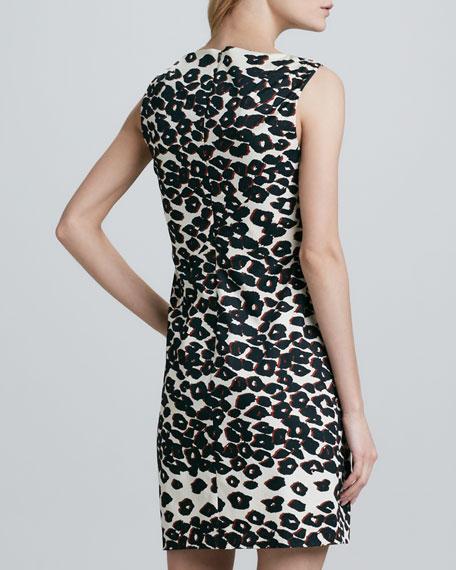 Fitted Cheetah-Print Dress