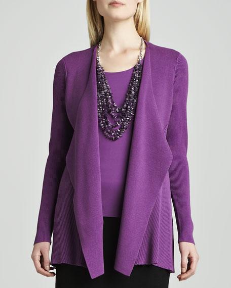 Silk-Cotton Interlock Sweater Jacket