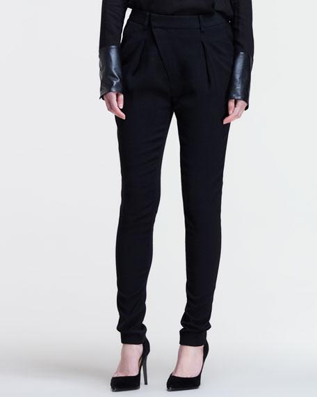Angled-Front Skinny Pants