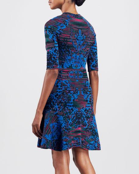 Intarsia Fit & Flare Dress