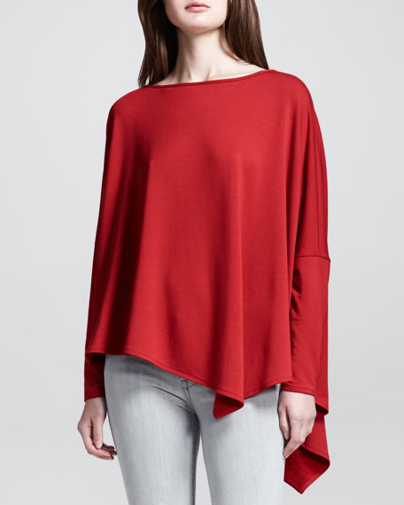 Oversized Angled-Hem Pullover