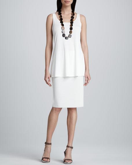Silk-Cotton Straight Skirt