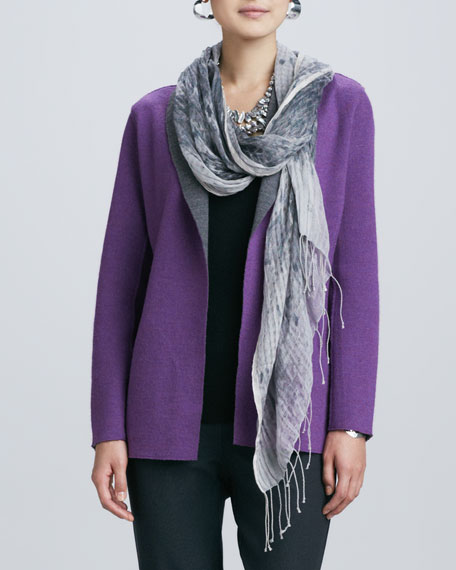 Hazy Linen Weave Scarf