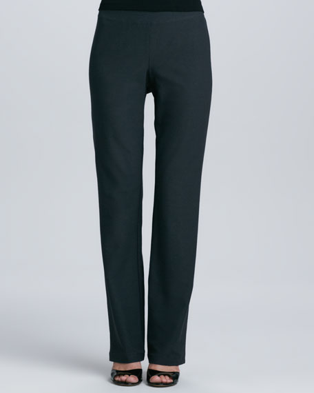 Eileen Fisher Washable-Crepe Boot-Cut Pants, Women's