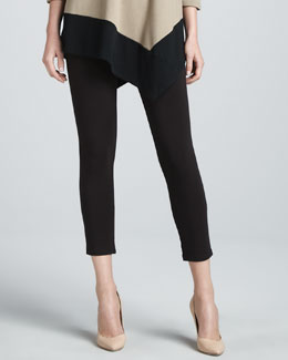 Joan Vass Cropped Jersey Leggings