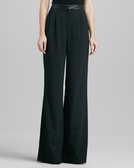 High-Waist Wool Pants