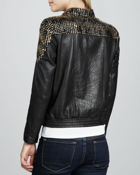 Adel Studded Leather Jacket