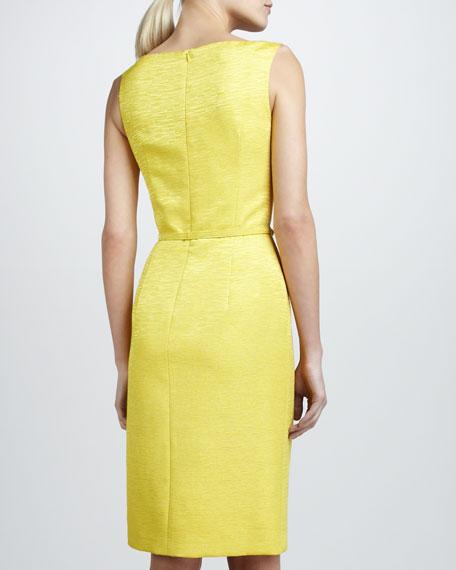 Sleeveless Bow-Neck Belted Dress