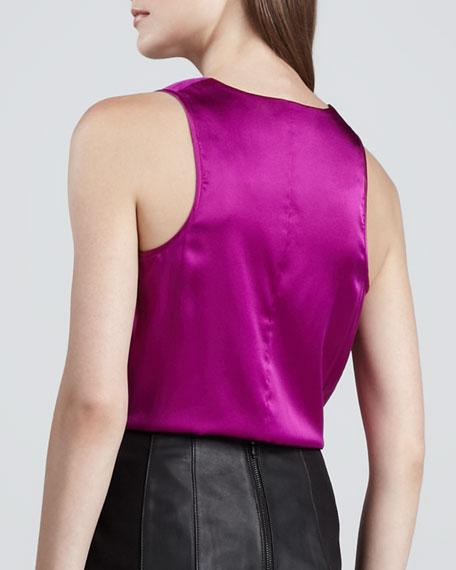Bungee Sleeveless Silk Top