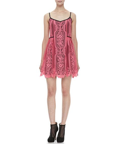 Carousel Sleeveless Lace Dress
