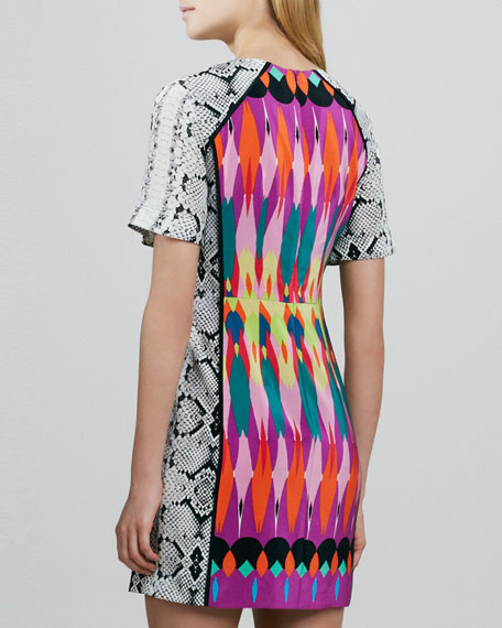 Fun House Mix-Print Dress