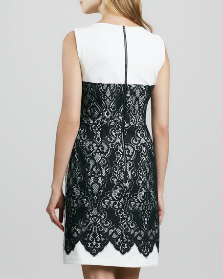 Kissing Booth Lace-Panel Dress