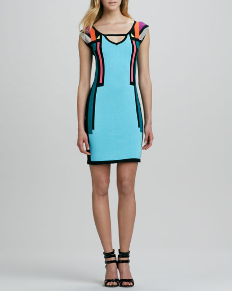 Tight Rope Multicolor Sweaterdress