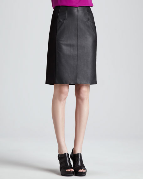 Mime Leather Pencil Skirt