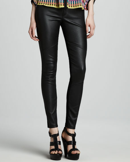Candy Apple Skinny Leather Pants