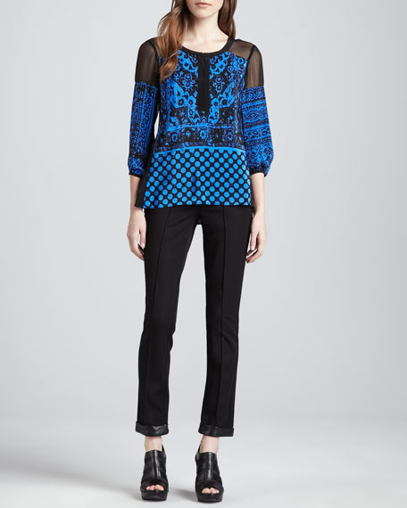 Fly Away Leather-Trim Pants