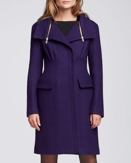 Aquarius Zip-Collar Coat