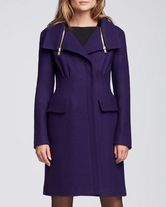 Aquarius Zip-Collar Coat