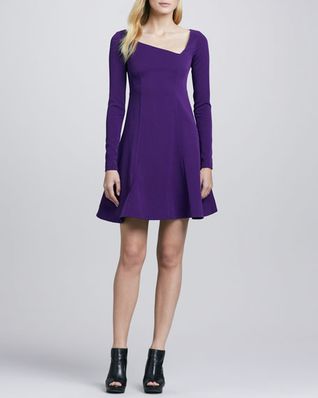 Comet Asymmetric Crepe Dress