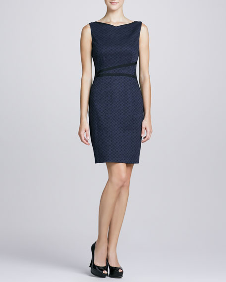 Ladella Diamond Jacquard-Front Dress