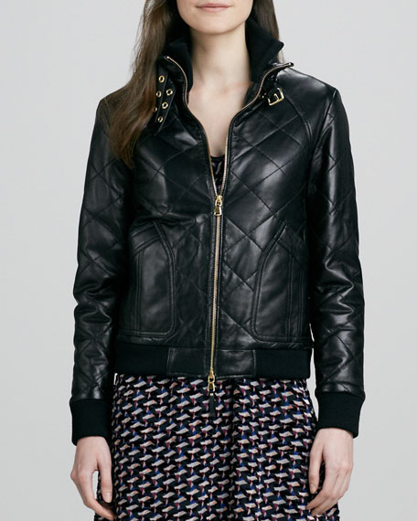 Kent Quilted Leather Jacket