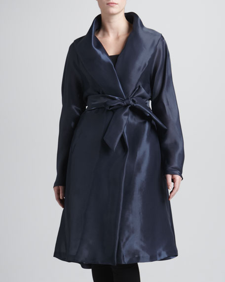Evening Clutch Organza Belted Coat