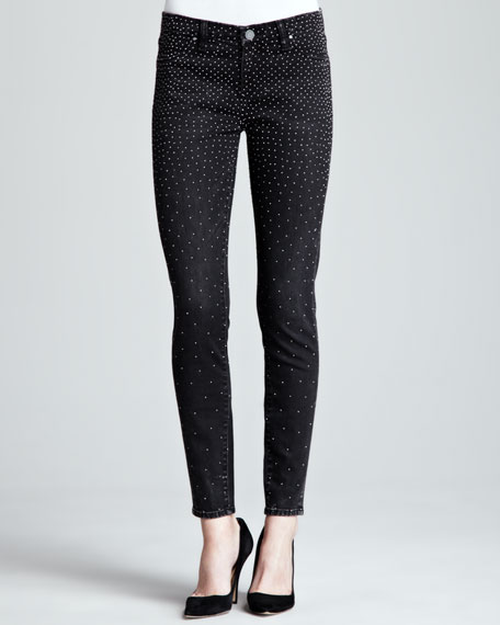 Instaglam Micro-Studded Jeans