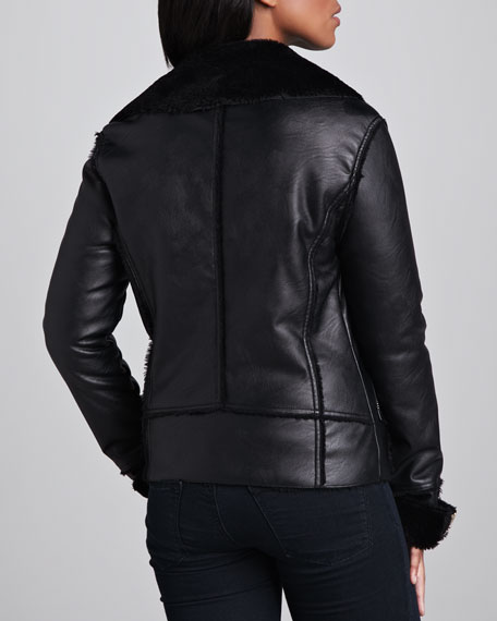 Black Light Faux-Leather Jacket