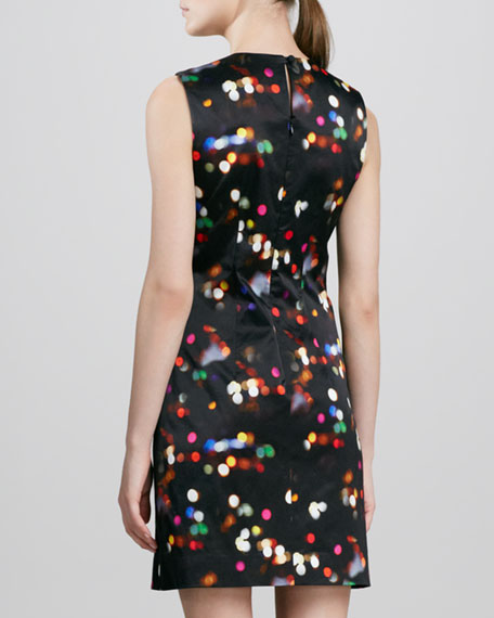 Sleeveless Printed A-line Dress