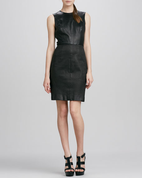Lisa Leather Combo Dress