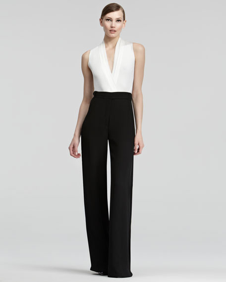 High-Waist Crepe Pants